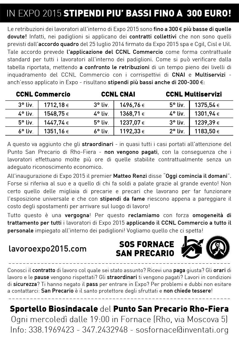 Ccnl Commercio Per Tutti I Lavoratori Dei Padiglioni Di Expo